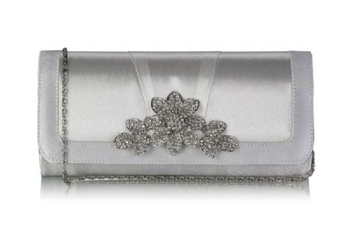 Anna Ivory Crystal Bridal Clutch Bag, Wedding Evening Bag